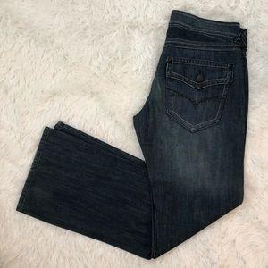 Guess Men's Dark Denim Boot cut Jeans size 33